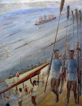 Сергей Лучишкин карнавал на Москве-реке, 1932. Из коллекции ГТГ.