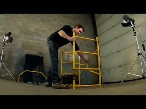 Jobsite Series™ 5' - Andamio portátil de 5' de altura - Video de ensamblaje - YouTube