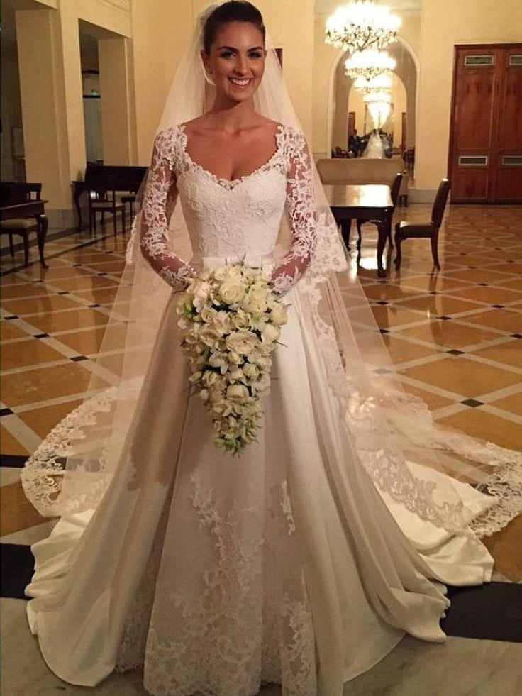 Vestido de noiva com manga