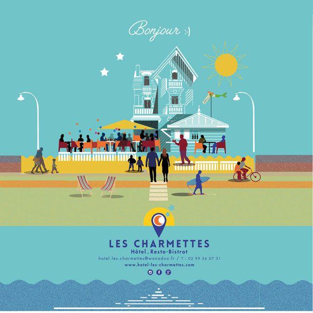 Resto_Bar_Bistrot, Les Charmettes situé près du club de voile et des Thermes sur la digue de Rochebonne à Saint-Malo, Bretagne