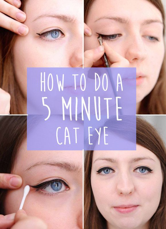 A super easy guide to cat eyes.