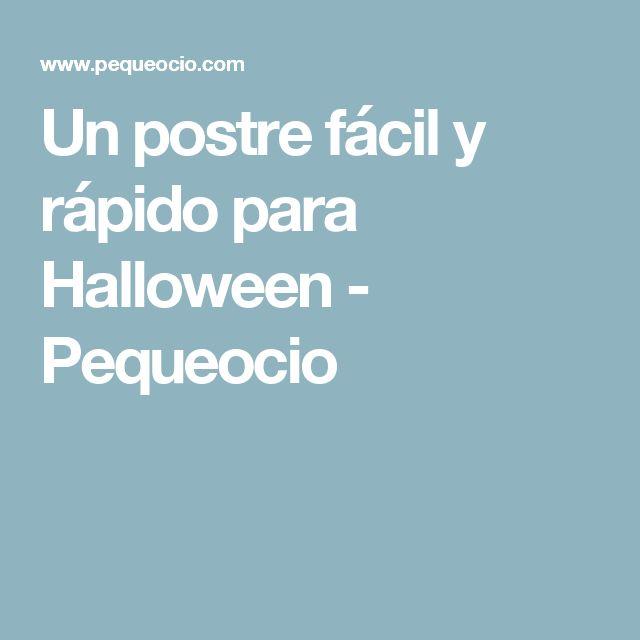 Un postre fácil y rápido para Halloween - Pequeocio