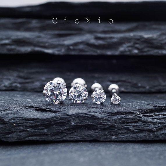 Triple-Helix-Ohrring Knorpel Ohrring Tragus Ohrring 16g von CioXio