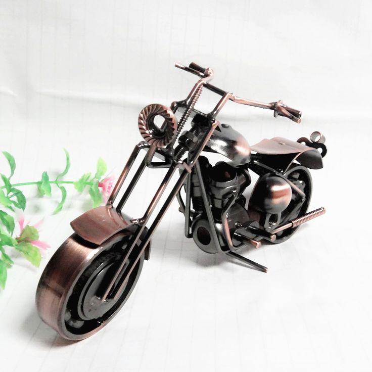 TOP COOL ART - Vintage METAL Pure hand Retro iron Classic motorcycle model --HOME office BAR RETRO TOP Decor art # M1-1