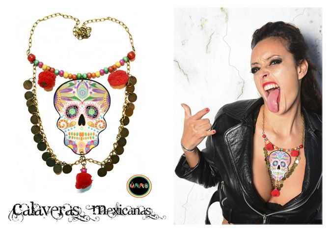 Rock and roll + Calaveras mexicanas