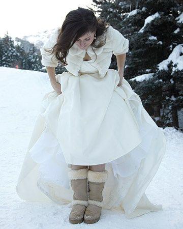 winter bruid bruidsjurk kerst
