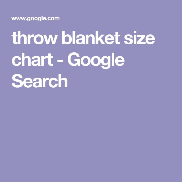 throw blanket size chart - Google Search