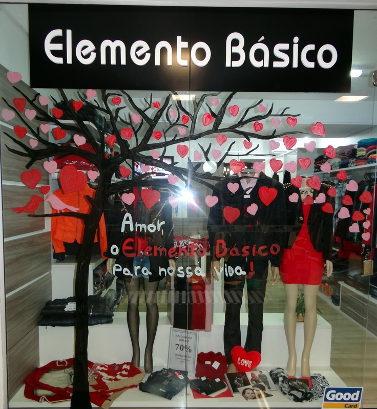 123 best images about Vitrine Dia dos Namorados on Pinterest Shopping, Store window displ -> Como Enfeitar Vitrine Dia Dos Namorados