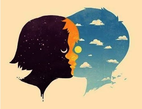 love art hippie boho indie moon night stars night sky sun clouds universe surrealism hippy surreal boy and girl connection day time hippie art