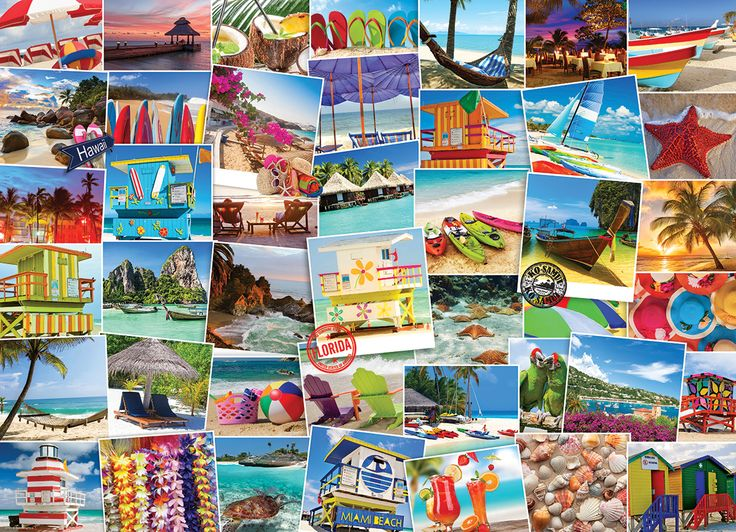 Beaches Globetrotter. 1000 pieces. It's a small world after all.  Bring your beach towel to the best beaches in the world in one puzzle, over 40 destinations to view.  This 1000 piece puzzle is sure to give you the travel bug as you will want to book your flight today!