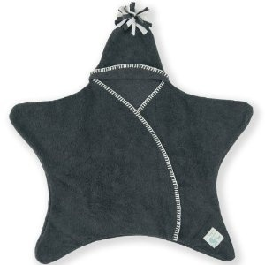 Tuppence and Crumble Star Fleece Baby Wrap Charcoal 0-6 mths: Amazon.co.uk: Baby