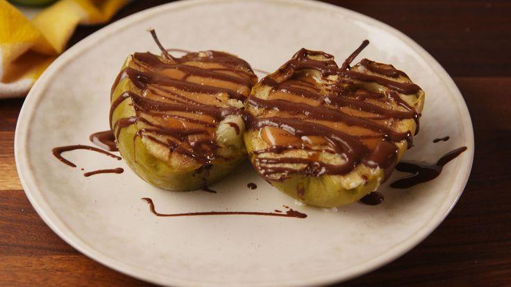 Caramel Stuffed Apples