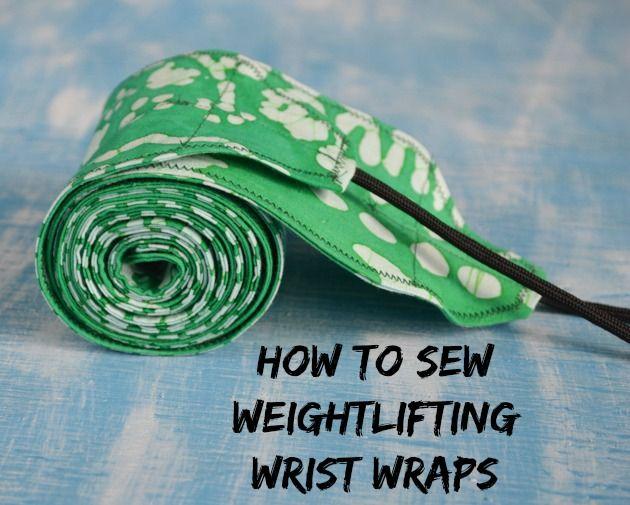 DIY Weightlifting Wrist Wraps Tutorial + Pattern