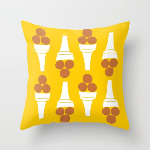 Simple Ice Cream 2 Throw Pillow by Agata Winer | Society6
