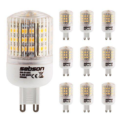 http://ift.tt/1Qr5kZD SEBSON 10er Pack G9 LED 3W Lampe  vgl. 25W Glühlampe  240 Lumen  G9 LED warmweiß  LED Leuchtmittel 160 @inilo#$