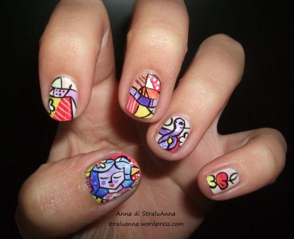 Romero's Britto inspired nail art | StraluANNA #nail #nails #nailart