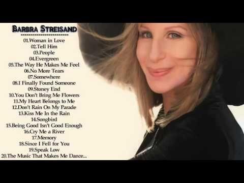 Best Barbra Streisand songs -- Barbra Streisand best hits playlist album - YouTube