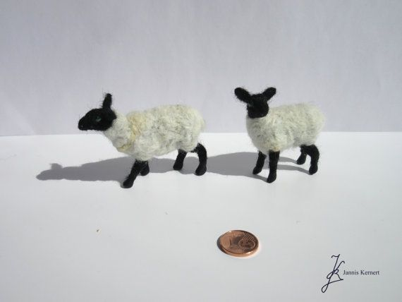 Neede Felted Black-Faced Sheep in Scale by KernertJuergeneering