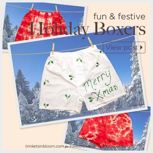 DIY Boxers for the Holidays (Kit sold exclusively at Michaels)Festivals Diy, Bf Gift, Holiday Kits, Christmas Fun, Gift Ideas, Diy Boxers, Diy Er, Holiday Boxers, Diy Holiday