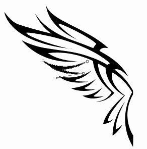 Draw Draw Eagle Tattoo in Photoshop CS