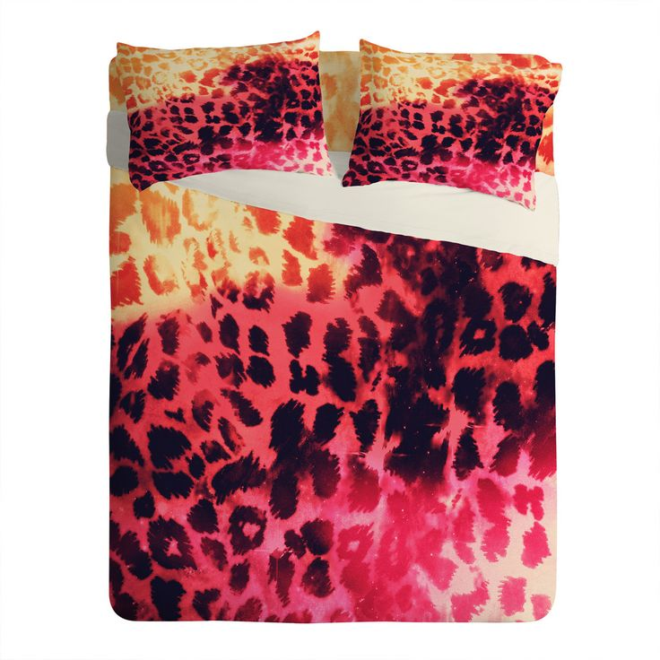 Caleb Troy Leopard Storm Fire Sheet Set Lightweight   DENY Designs Home Accessories