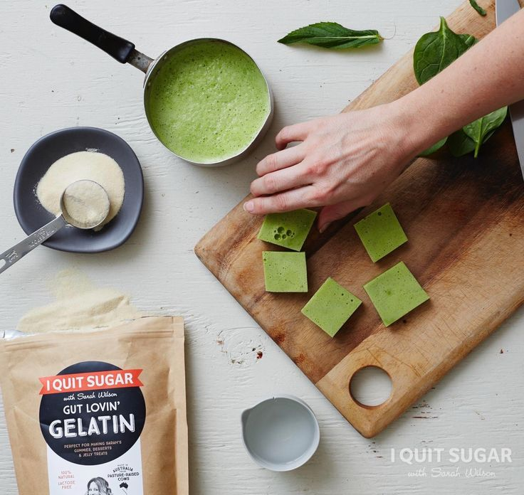 Wondering what to do with your leftover green smoothie? Make these Green Smoothie Detox Gummies from Sarah Wilson's best selling I Quit Sugar: Simplicious.