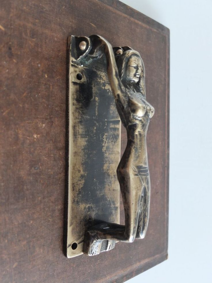 Vintage antique style hand made solid brass woman sculpture door knocker antiques architectural