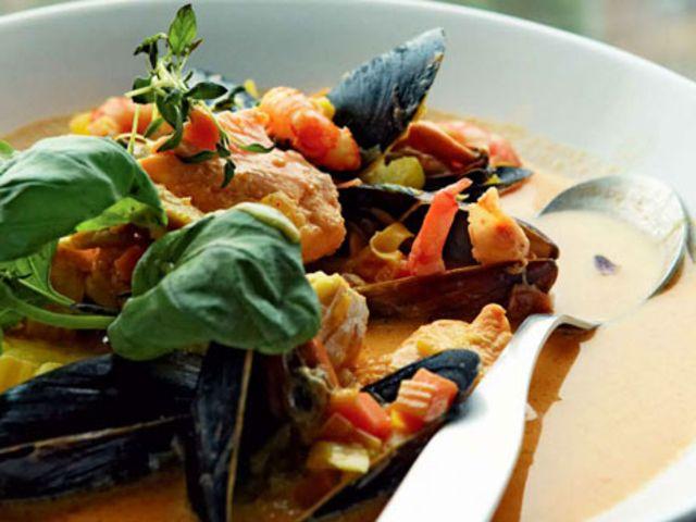 Morbergska fisksoppan med saffran (kock Per Morberg)