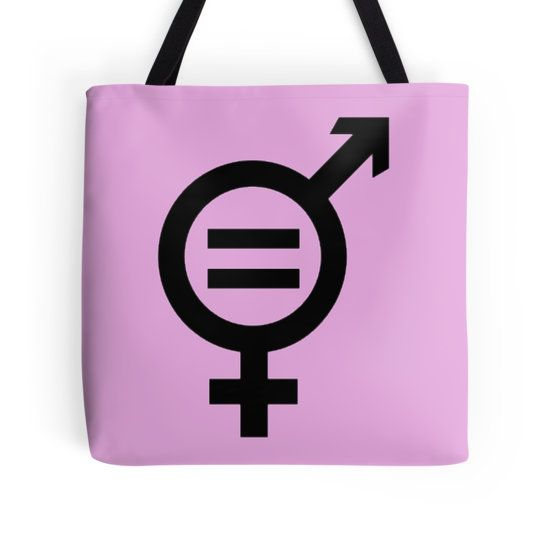 "Equality - Merged Male and Female Gender Symbols ""#Equality - Merged Male and Female #Gender #Symbols"" #ToteBags by taiche 