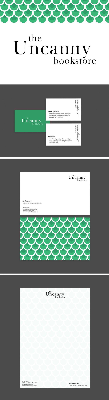 The Uncanny Bookstore Identity design // Nicky Sevior