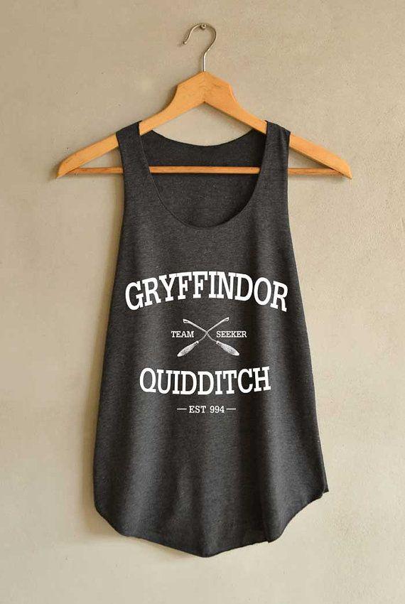 Gryffindor Shirt Quidditch Harry Potter Shirts Tank Top Women Size S M L