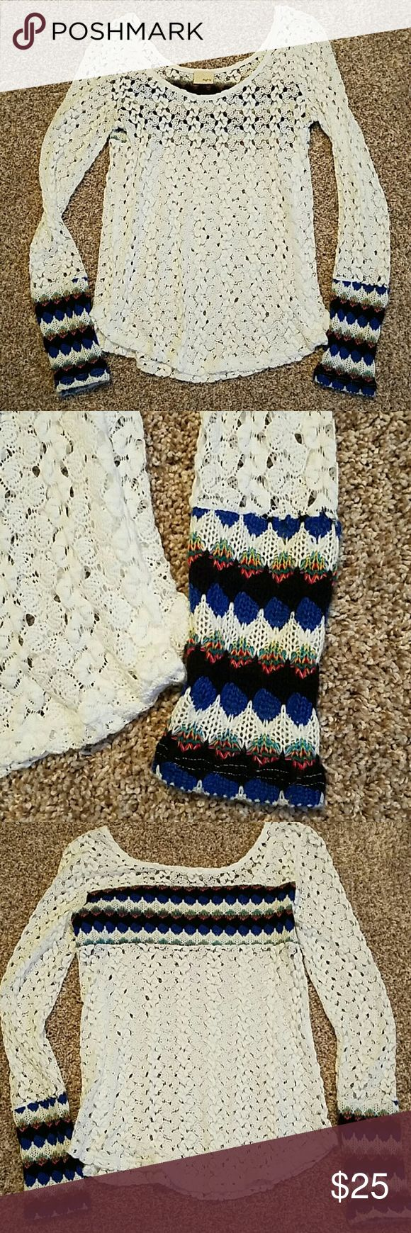 Lacey Blouse Lacey aztec long sleeve Daytrip blouse Daytrip Tops Blouses