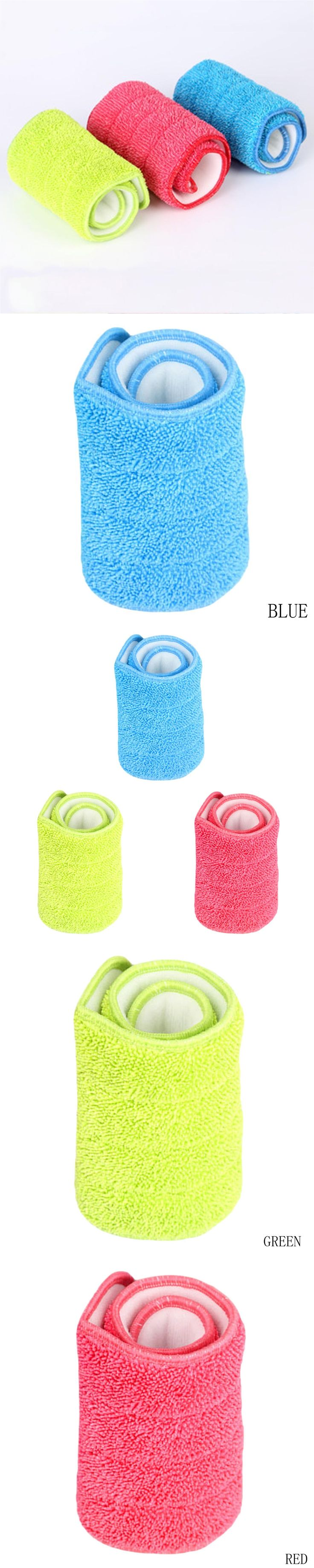 3 Colors Replacement Microfiber Spray Mop Head Washable Floor Cleaning Cloth Household Cleaning Mop Pads Drop Shipping