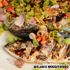 Ikan bakar. Grilled fish, plain and simple. But in a country with more than 17,000 islands, fish is bound to feature prominently. While squid and prawns have a place in Indonesian cuisine, ikan bakar gets a far better showing for a fleshy texture that is great for dipping. It is usually marinated in the typical trove of spices and served with a soy and chili-based sauce.