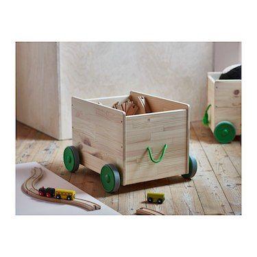 IKEA FLISAT toy storage with wheels