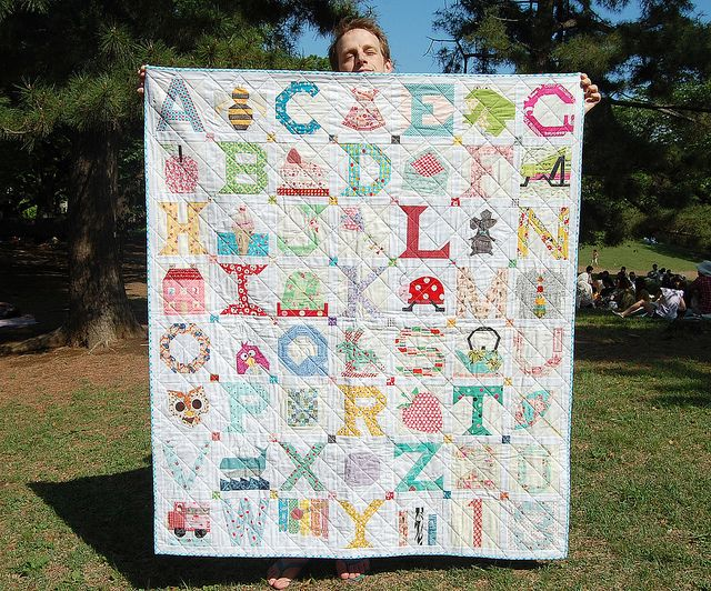 A-Z quilt... cutest baby quilt EVER!