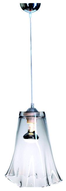Lampa wisząca renomowanej firmy 4Concepts. Podstawa lampy wykonana ze szkła bezbarwnego. Osprzęt chrom. Przewód w otulinie pvc, długość 1,5m.