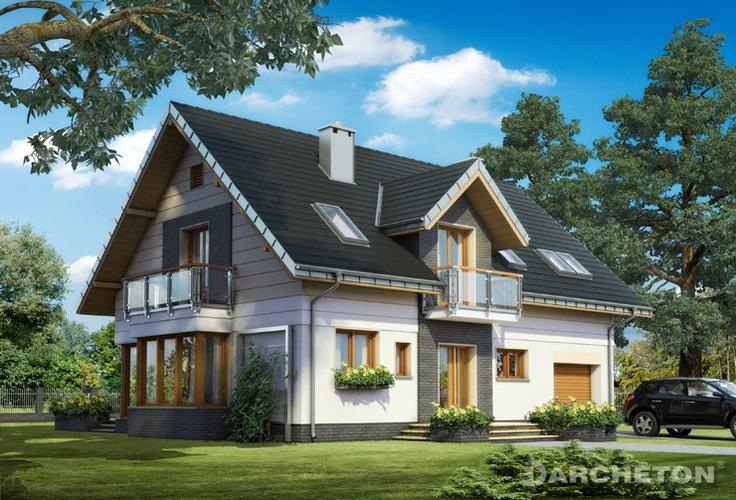 Projekt domu Axel Neo - dom przyciągający uwagę, z piękną przeszkloną jadalnią, idealny dla 5 osobowej rodziny