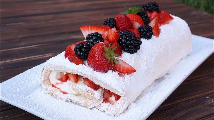 Summer Berry Meringue Cake Roulade   Episode 113