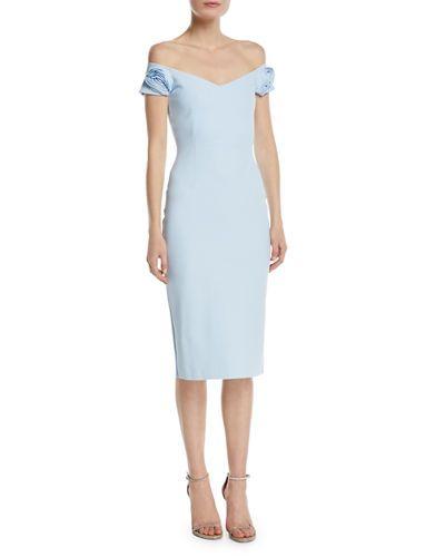 ca81c760 Chiara Boni La Petite Robe Kajsa Rose-Sleeve Off-the-Shoulder Cocktail Dress