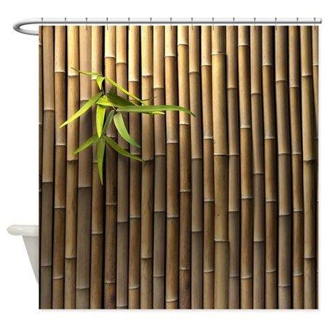Bamboo Wall Shower Curtain on CafePress.com