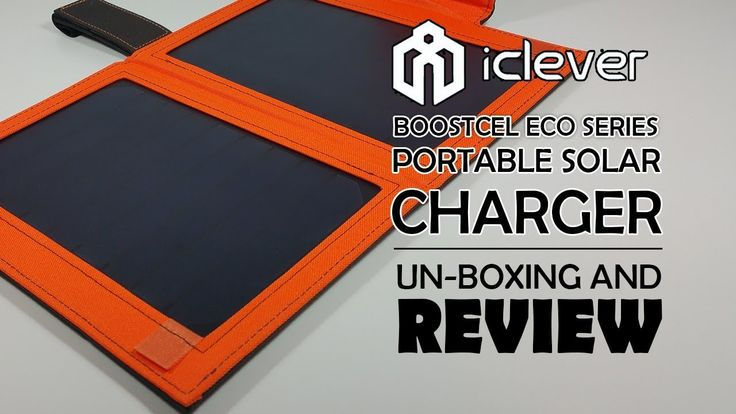 iClever 12W Solar Charger with Built in Battery IC-SB11Y - Unboxing And ...