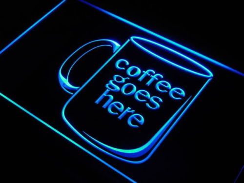 Coffee Cup Goes Here Cafe Shop neon Light Sign