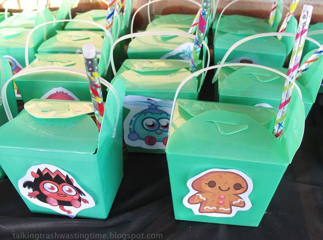 Moshi Monster party loot lolly bags