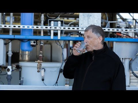 Watch Bill Gates drink water that was human waste 5 minutes earlier