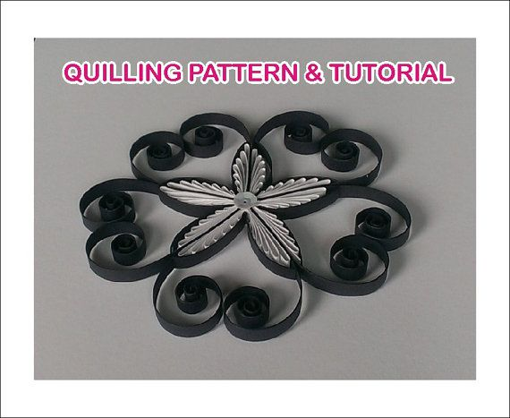 Paper Quilling Pattern Quilled decor pattern by evascreation
