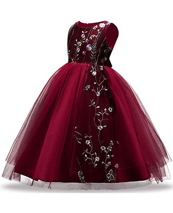 21.99 Amazon.com  Big Size 7-16 Formal Wedding Dresses for Kids Bridesmaid  Flower Girls Dress Up Ball Gown Tutu Sundress Casual Bride Long Tutu Puffy  ... da069d07ff4d