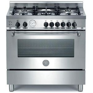 "Gas Ranges >> Bertazzoni 36"" Free Standing Gas Range - Stainless Steel 