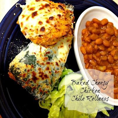 baked Cheese Chicken Chile Rellenos