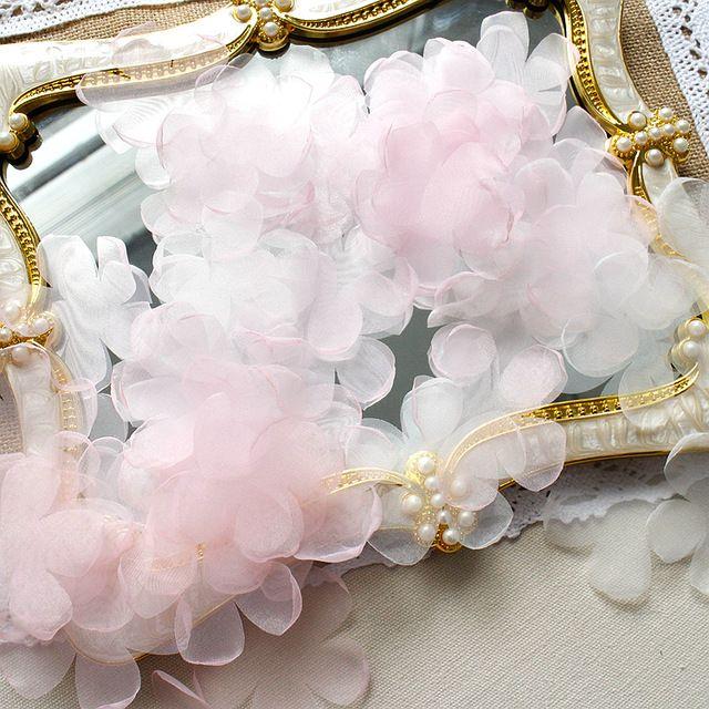 dorato fiore Lace Trim DIY Sewing applique da sposa vestito artigianale Come da immagine
